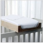 crib mounted baby changing table