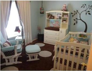 yellow and pink baby nursery