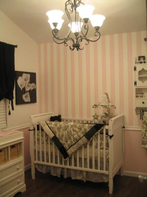 Brooklyn's Pink and White Bungalow Nursery